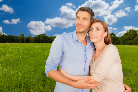embracing real estate planning couple