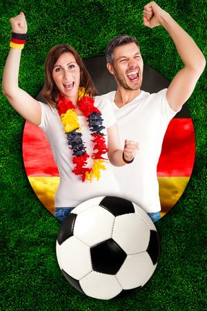 the fans: German soccer fans