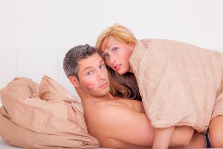 couple  amoureux: Couple tout en ayant des activit�s sexuelles Banque d'images
