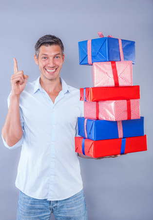 reminding: offering a lots of colorful presents
