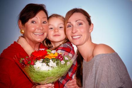three generation: generation portrait of three females