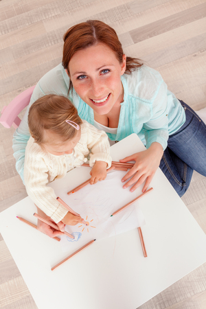 mum and child: teaching and learning creative at home