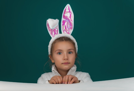 easter child looking to camera Banco de Imagens