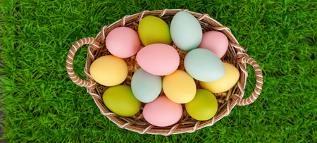 bachground for easter with eggs