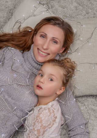 floor lights mother with daughter smiling