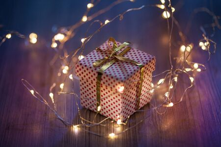little present in bokeh lights