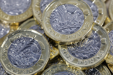 One pound coins - British Currency