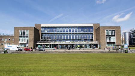 Swansea, UK: May 04, 2016: Fulton House is the main building at Swansea Universitys Singleton Campus and is being considered for demolition to make way for a more appropriate 21st century building