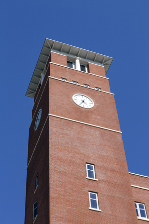 Swansea, UK: June 17, 2017: The Swansea Bay Campus is located right on the beach on the eastern approach to Swansea, and is the home to the College of Engineering. The clock tower is a focal point on the main building Sajtókép