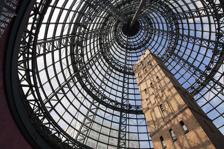 Melbourne, Australia: March, 2017: Coops Shot tower at Central Railway Station in Melbourne. Coops Shot Tower is located in the heart of the Melbourne. It was completed in 1888 and is 50 metres high. Sajtókép