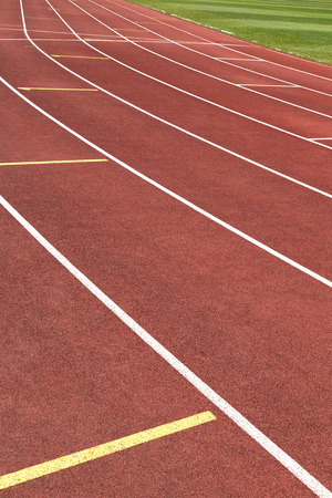 Red running track in a vertical format
