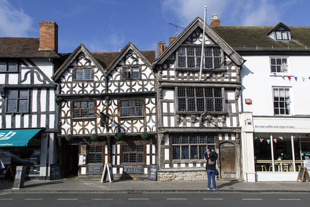 Stratford upon Avon, UK: October 14, 2017: The Garrick Inn was built in circa 14th century and is a half timbered Elizabethan restaurant serving real ales. It is reputedly the oldest pub in the town