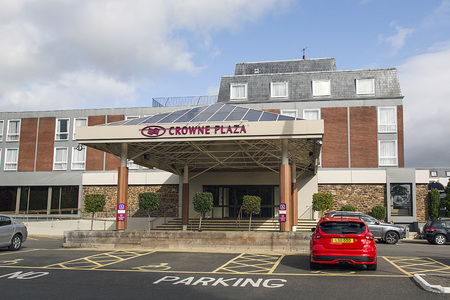 Stratford upon Avon, UK: October 14, 2017: The Crowne Plaza is a contemporary hotel in prime locations throughout the world for business trips and city breaks including free wife and premium quality