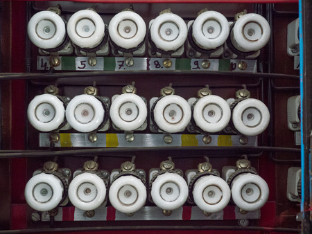 old fuse box stock photo picture and royalty free image image rh 123rf com old fuse box parts old fuse box trip switch