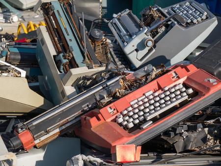 abandoned typewriter photo