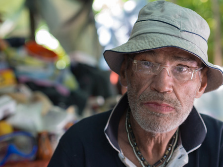 ugly homeless man stock photo, picture and royalty free image. image