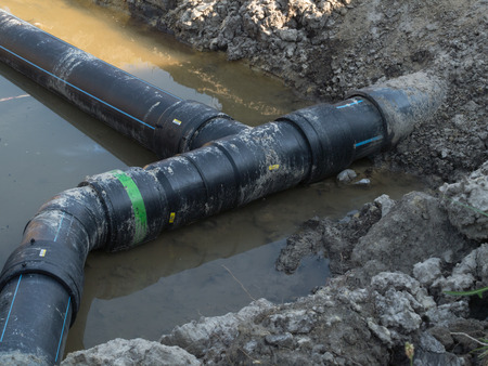 junction pipe: Polyethylene pipe and outfit