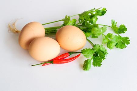 spicey: uova mix di verdure peperoncino cucinare cibo piccante
