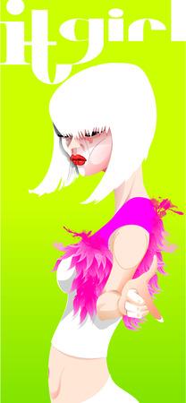 Fashion magazine cover with stylish slim model