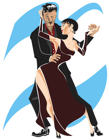 Tango dancers. Traditional argentine dance. Elegant dancers