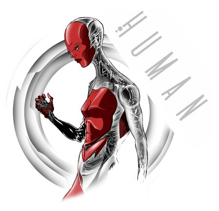Robot in human form, artificial intelligence, cyborg, mechanical life form