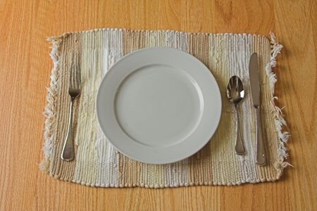 placemat: table place setting Stock Photo