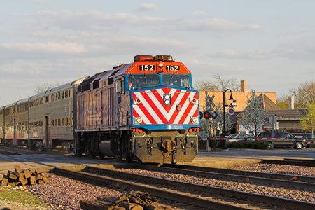 commuter: Commuter Train Stock Photo