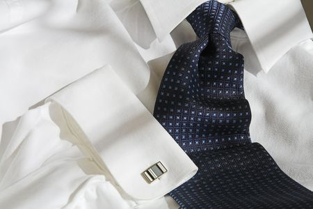 cuff link: shirt and tie with cuff link