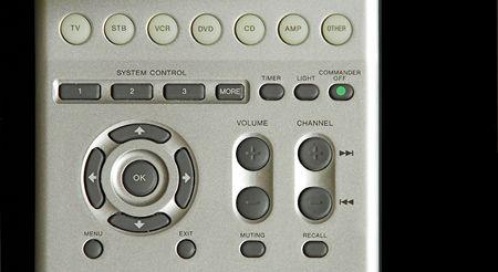 vcr: media remote control buttons