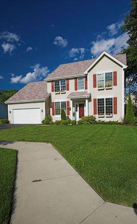 modest: modest suburban american home