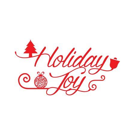 Ik wens je veel Joy Holiday seizoen. Gelukkig nieuwjaar. Kerstmis achtergrond. Vector illustratie.