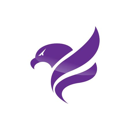 Creative initial letter F with eagle bird logo template vector illustration. 版權商用圖片 - 138186028