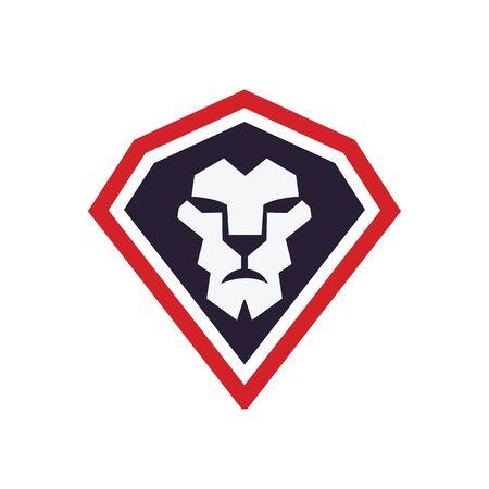 Lion head logo vector design. lion king head sign concept. Banque d'images - 138186099
