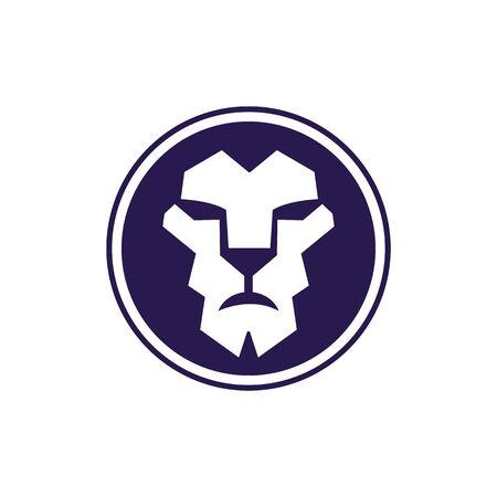 Lion head logo vector design. lion king head sign concept. Banque d'images - 138186105