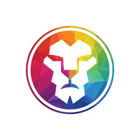 Lion head logo vector design. lion king head sign concept. Banque d'images - 138186106