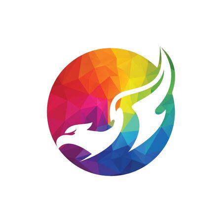 Eagle bird Logo abstract design. Flying Soaring Falcon Logotype concept icon.