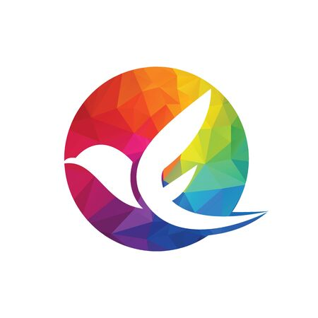 Creative initial letter F with eagle bird logo template vector illustration. 版權商用圖片 - 138186590