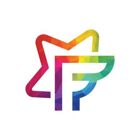Star letter F vector logo design. Foto de archivo - 138186891