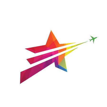 Star travel logo design.