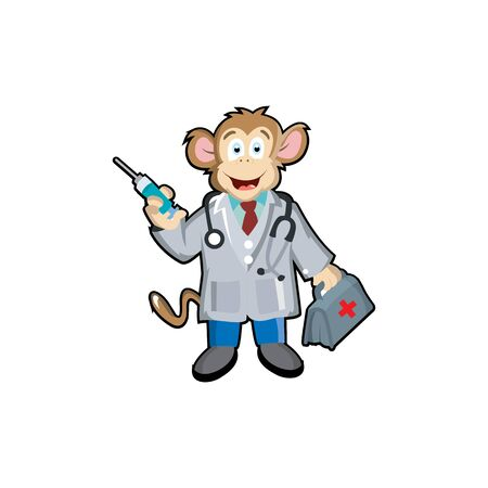 Monkey Doctor Mascot Logo