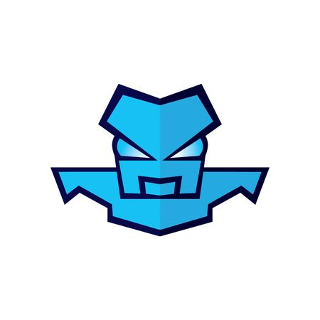 Angry robot vector logo design.
