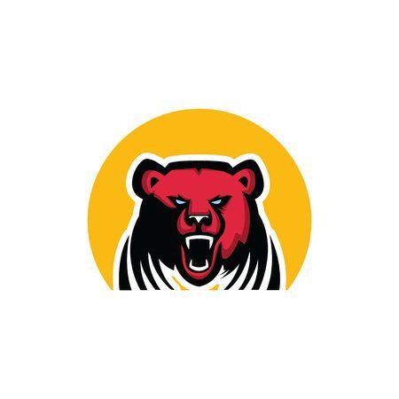 Bear mascot. Sport bear logo emblem. Bear character vector logo design.