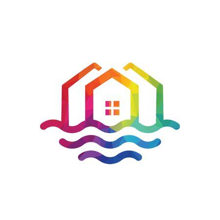 Creative Real Estate logo design. Property and Construction Logo design. Homes logo concept Real estate service, construction, Growth house, arrow up home concept.