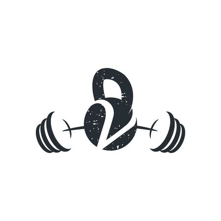 Letter V barbell vector icon design. Gym and bodybuilding logo. Vector design template elements for your application or corporate identity.
