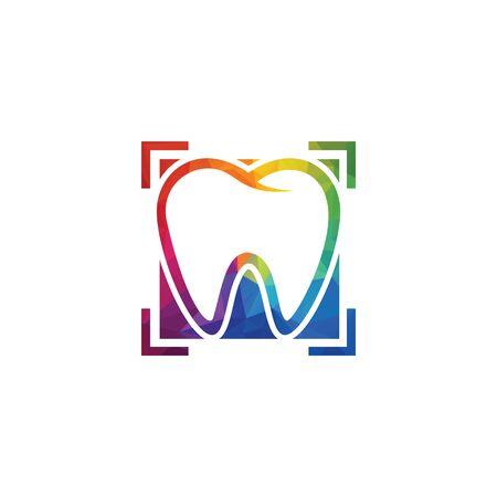 Diseño de logotipo vectorial de clínica de dentista y odontología.