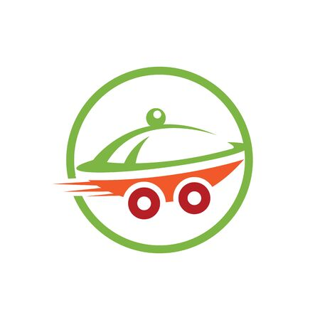 Food delivery logo design. Fast delivery service sign.