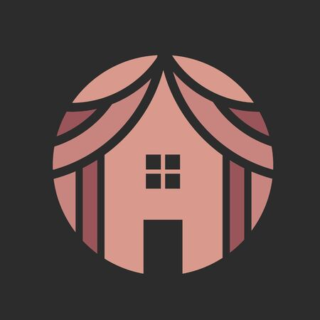 Tent House Camp Logo Design Vector.