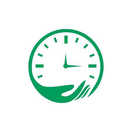 Time Care Logo Template Design Vector. Design Concept, Creative Symbol, Icon.