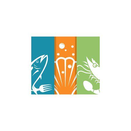 Seafood restaurant vector logo design. Seafood best quality logo. For market, shops and your design vector illustration.