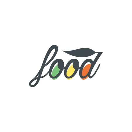 Modern minimalistic vector logo of food. Vector illustration. Ilustrace
